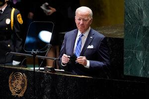 Americký prezident Joe Biden počas 76. zasadnutia Valného zhromaždenia OSN.