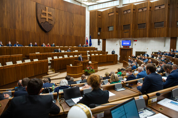 Poslanci parlamentu.