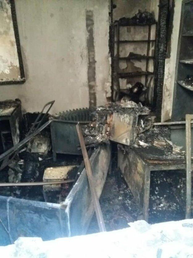 Vypálená miestnosť.