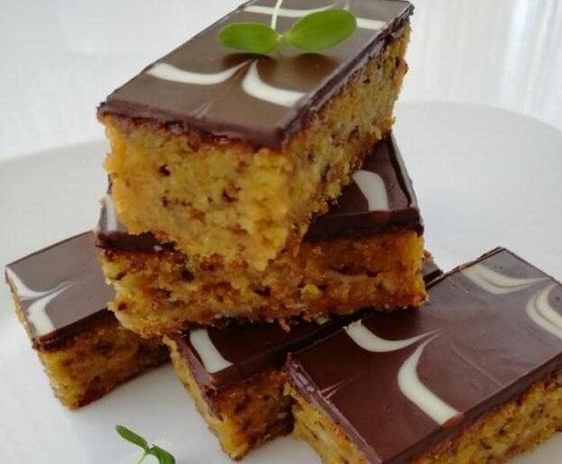 Mrkvový koláč s čokoládou