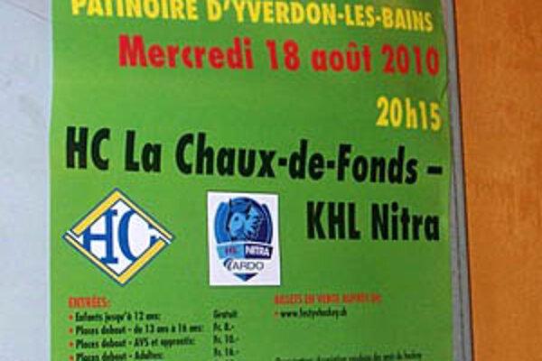 Oznam o zápase vo Švajčiarsku hovoril o tíme so zaujímavým názvom - KHL Nitra.