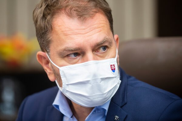 Minister financií Igor Matovič počas rokovania vlády.