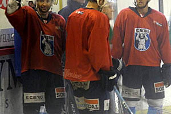 Hokejisti sa už hlásia do práce, vľavo T. Chrenko.