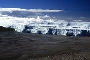 Ľadové pole na Kilimandžáre.
