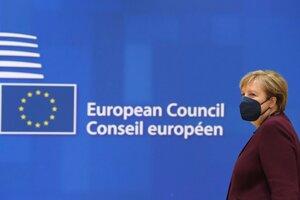 Nemecká kancelárka Angela Merkelová na poslednom summite EÚ.