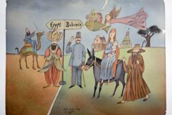 A. Born: Útek svätej rodiny do Egypta