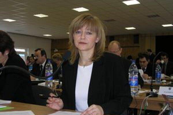 Podžupanka Ľubica Burdová.