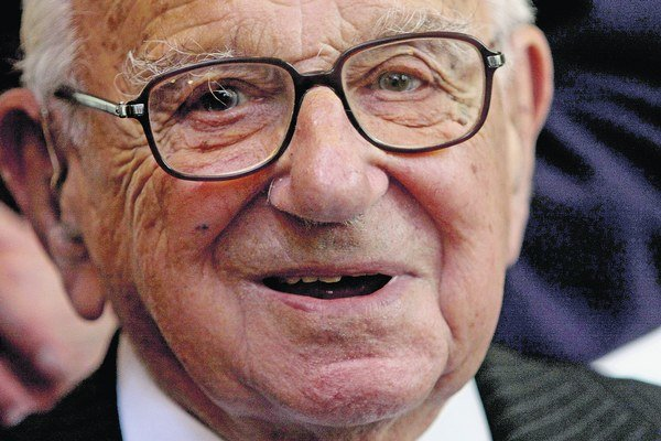 Sir Nicholas Winton (1909 - 2015).