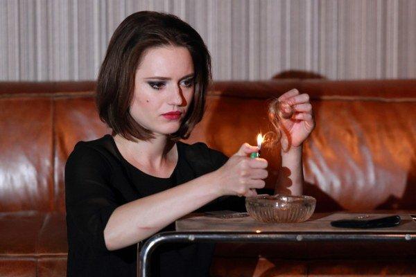 Rebeka Poláková v hre Obeť.