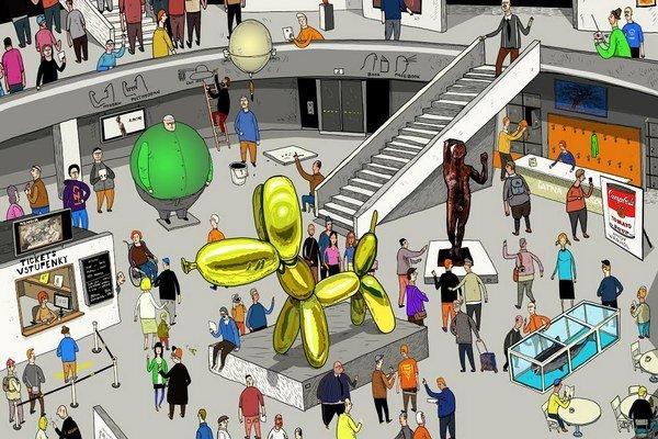 Galéria je v knihe zvláštnym miestom, stretávajú sa v ňom najväčšie moderné umelecké diela.