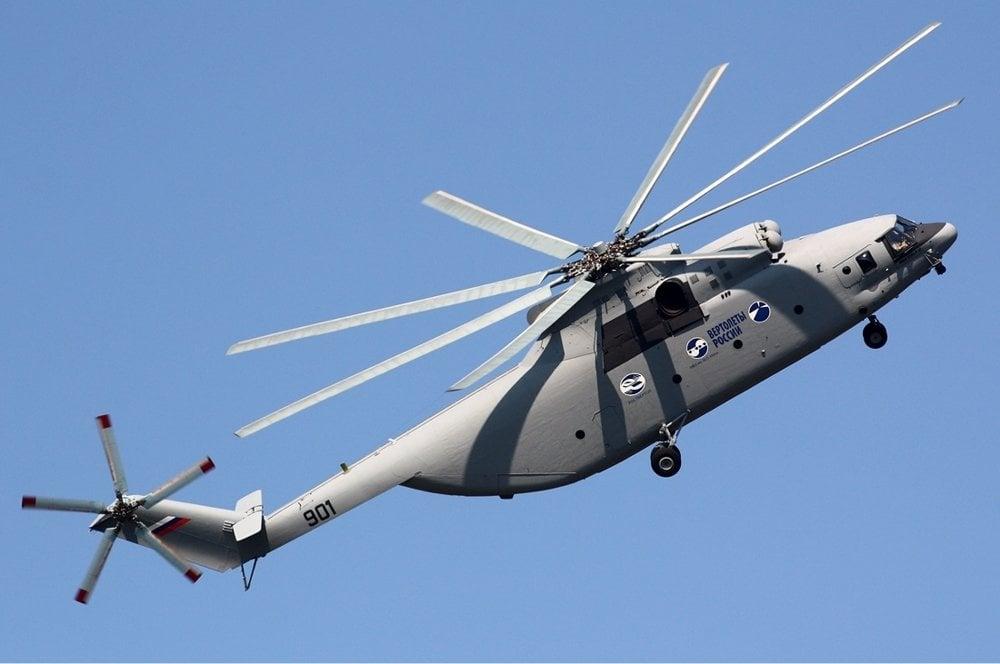 Aj napriek tomu, že je najväčší a najťažší na svete, zvláda vrtuľník Mi-26T2 náročné letové manévre.