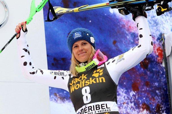 Slovenská lyžiarka Veronika Velez-Zuzulová.