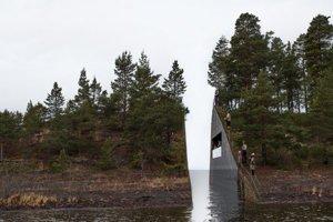 Pekné alebo smutné? Švédsky návrh pamätníka k 22. júlu 2011 vybrali spomedzi 300 projektov zo 46 krajín. Vyrezaná časť zeme sa použije pri druhom pamätníku v Osle.