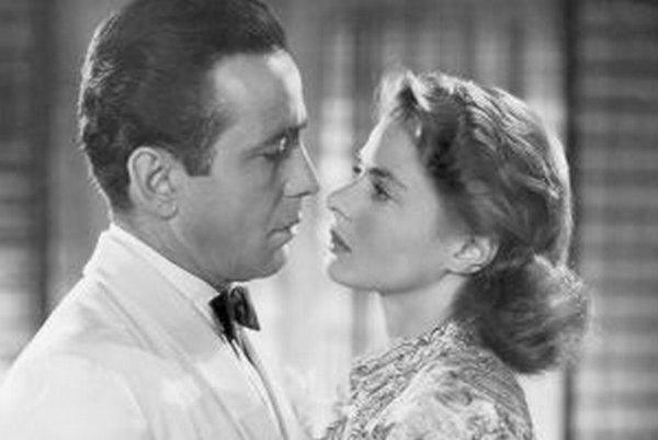"""Humphrey Bogart """"Bogie"""" a krásna Ingrid Bergmanová."""