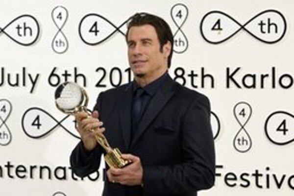 John Travolta na filmovom festivale v Karlových Varoch.