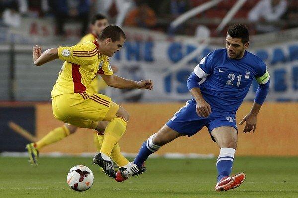 Katsouranis (vpravo) bol dlhé roky neoddeliteľnou súčasťou gréckeho národného tímu.