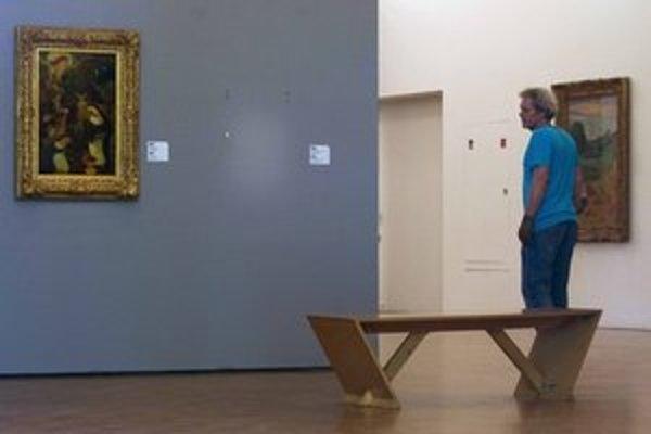 Prázdne miesto na stene po obraze Henriho Matissea.