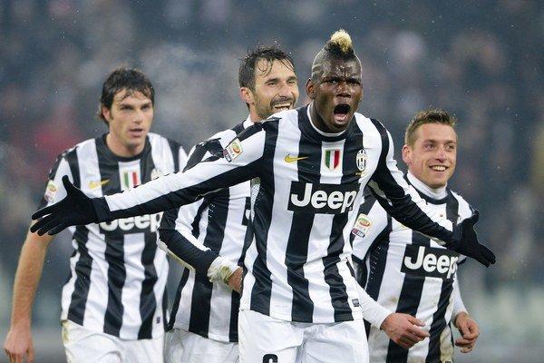 Pogba (v popredí) je špičkovým vývozným artiklom talianskej Serie A, ako aj turínskeho Juventusu.