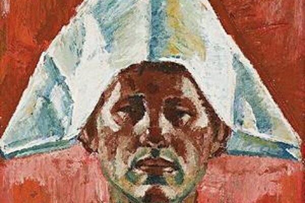 Ernest Zmeták: Autoportrét s papierovou čapicou a Motív z Atrani (na snímke vľavo).