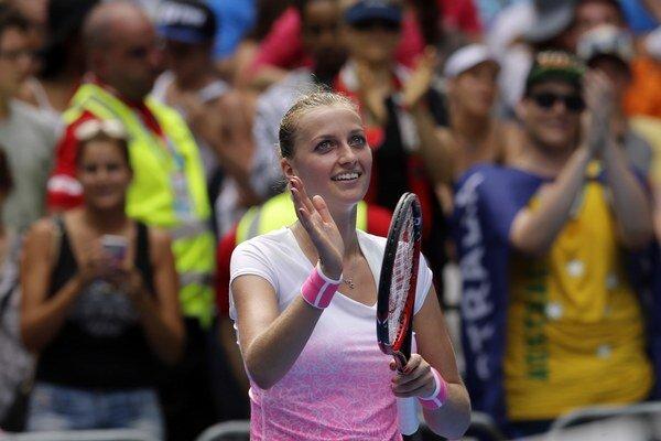 Petra Kvitová hladko postúpila do druhého kola.