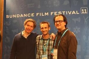 Marek Mackovič (uprostred) je hosťom festivalu Sundance s režisérom Kevinom MacDonaldom (vľavo).