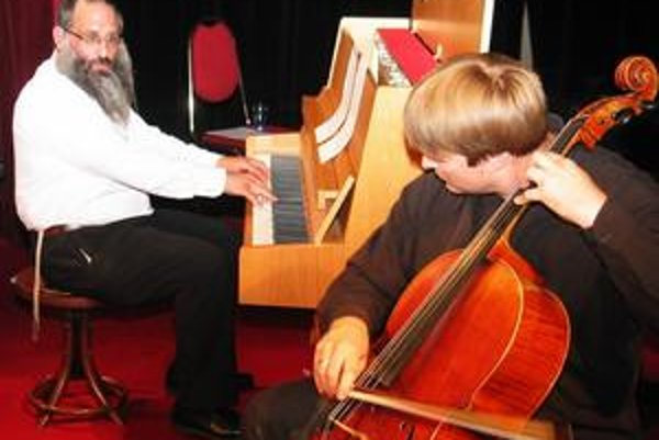 Baruch Myers (vľavo) a Jozef Lupták.