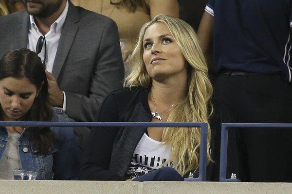 Lindsey Vonnová si počas súťažnej pauzy zašla aj na tenisový US Open.