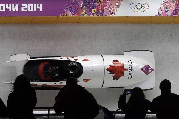 Olympijské víťazky Kanaďanky Kaillie Humphriesová a Heather Moyseová na trati v Soči.
