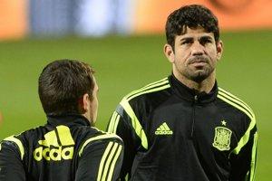 Španielsky útočník Diego Costa počas tréningu v Žiline.
