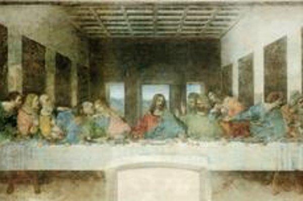 Tri okná za Kristom, apoštoli v skupinkách po troch. Trojka je v kresťanstve symbolom Boha v troch osobách.