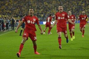 Karim Bellarabi sa tešil z gólu v Dortmunde hneď v úvode.