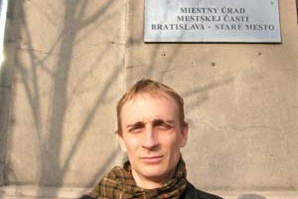Vedúci oddelenia kultúry v bratislavskom Starom Meste Richard Gregor