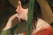 Najslávnejší Amerlingov obraz Dievča v slamenom klobúku.