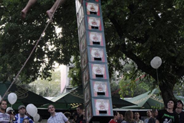 Návštevníci mohli súťažiť v zaujímavej disciplíne.