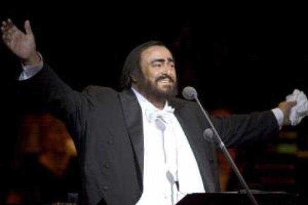 Svetoznámy taliansky operný spevák Luciano Pavarotti.