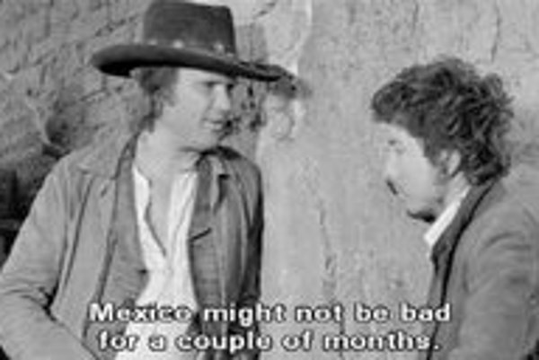 Kris Kristofferson a Bob Dylan vo filme Pat Garret a Billy The Kid.