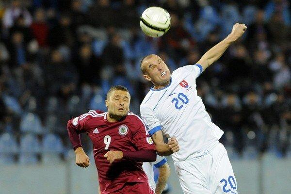 V domácom stretnutí v Bratislave futbalisti Lotyšov zdolali 2:1.