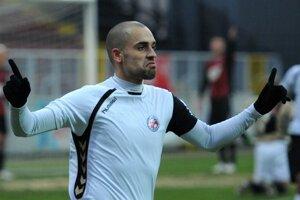 Juraj Piroska v drese FK Senica.