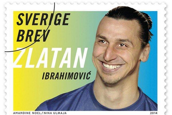 Ibrahimovič na poštovej známke.