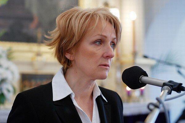 Primátorka Modry Hana Hlubocká.