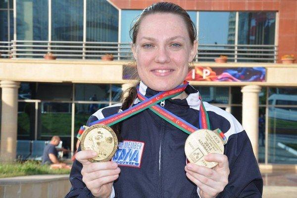 Na európskom šampionáte v azerbajdžanskom Baku sa Senčanka Lucia Debnárová tešila z dvoch zlatých medailí.