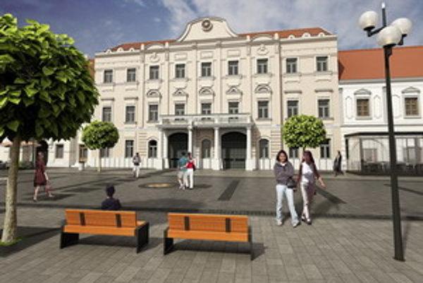 Vizualizácia novej pešej zóny v Trnave.