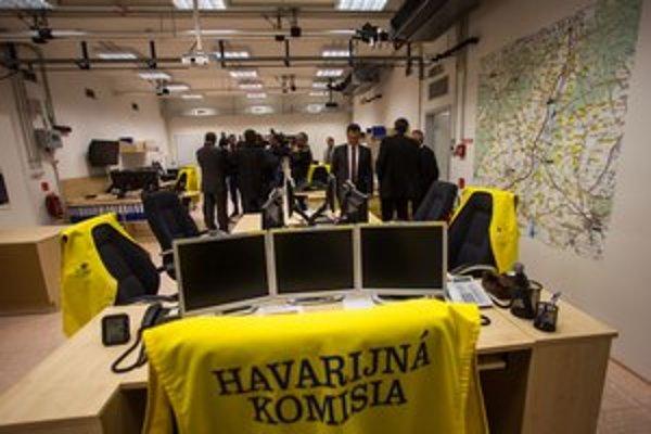 Kryt, v ktorom je centrála havarijnej komisie. Plánuje sa cvičný poplach.