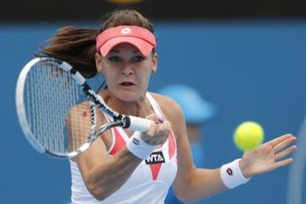 Poľská tenistka Agnieszka Radwaňská.