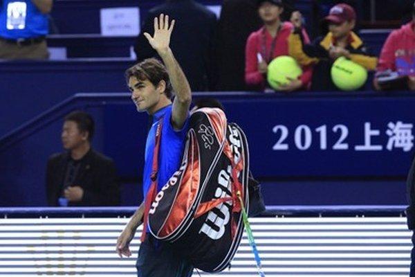 Porazený Roger Federer.
