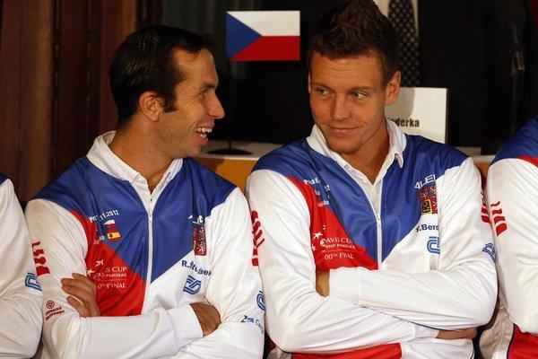 Radek Štěpánek (vľavo) a Tomáš Berdych.