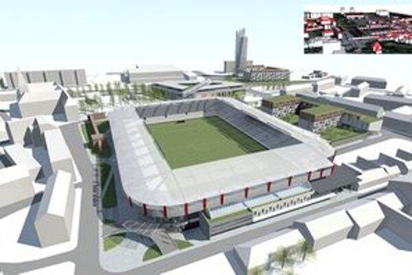 Nový štadión zasiahne aj do vzhľadu jeho okolia.