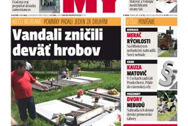 Aktuálne vydanie týždenníka MY Trnavké noviny.