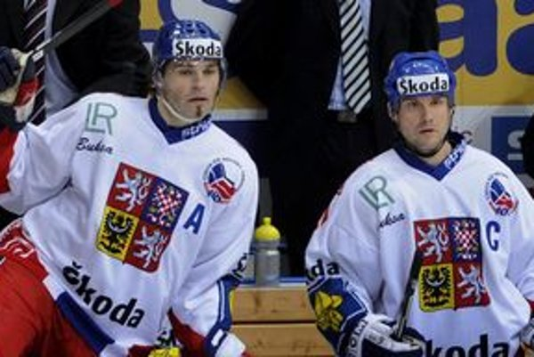 Martin Straka (vpravo) a Jaromír Jágr.