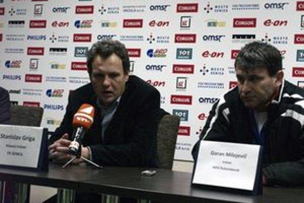 Goran Milojevič (vpravo) v Ružomberku skončil.